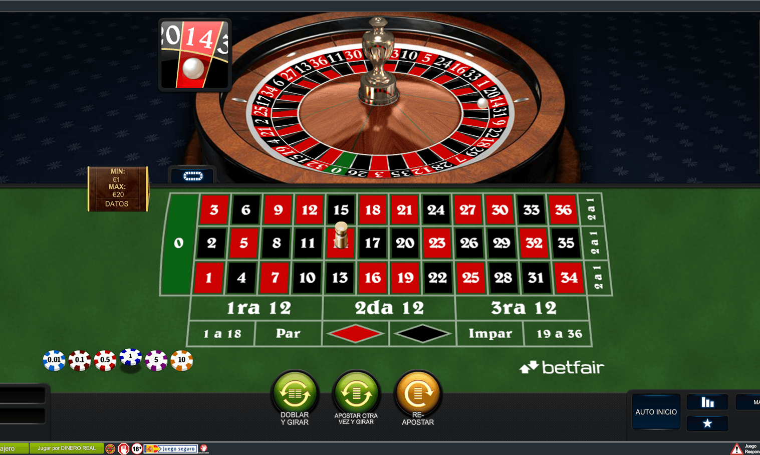 Ruleta europea pronosticos