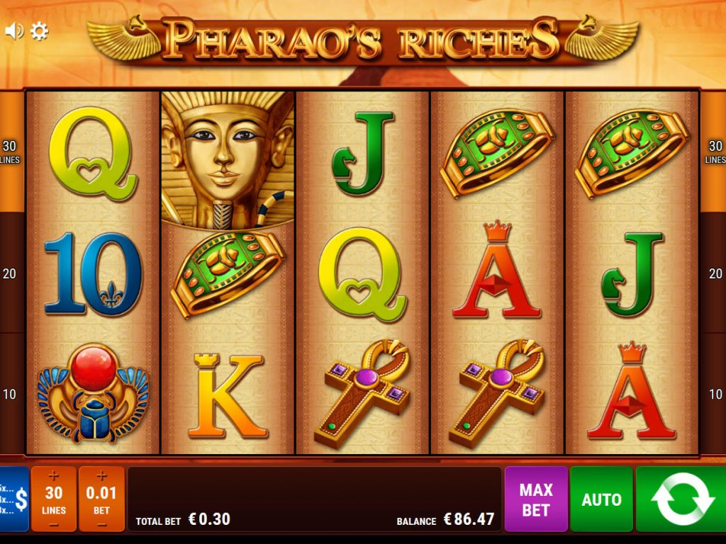 Tragamonedas multijuegos Pharaoh Riches - 21791